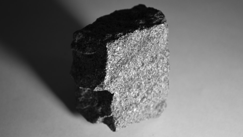 gray and black stone fragment