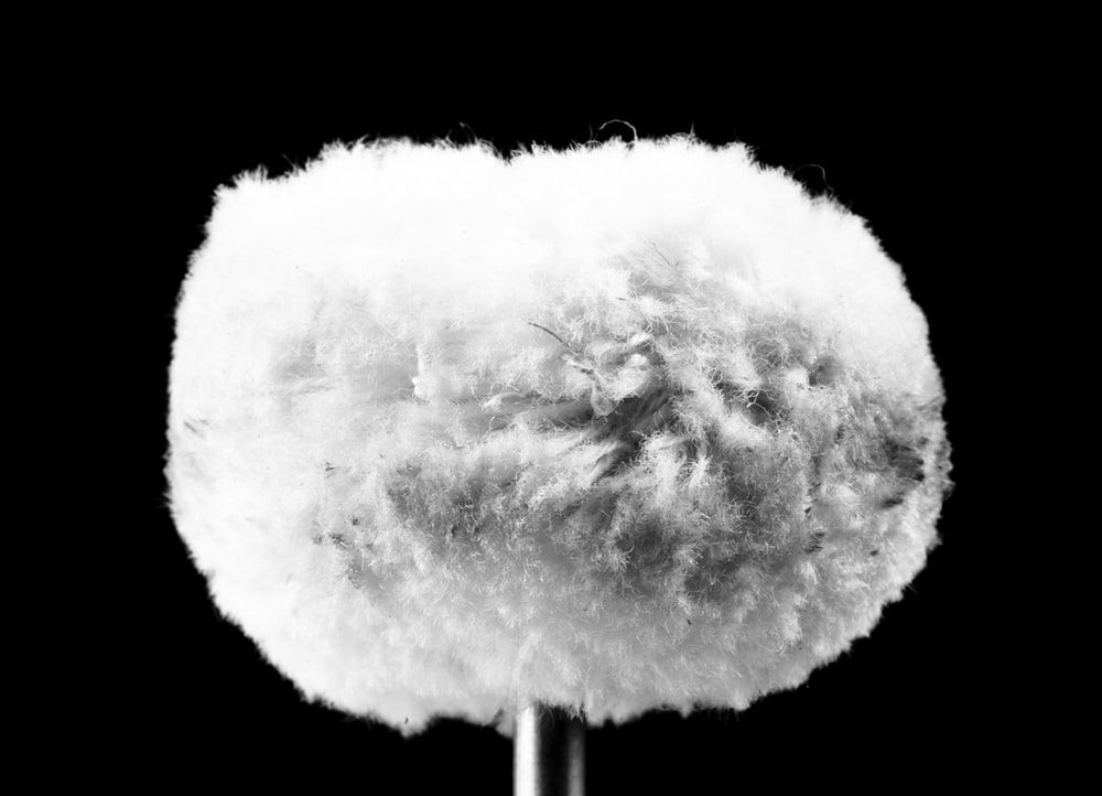 white cotton with black background