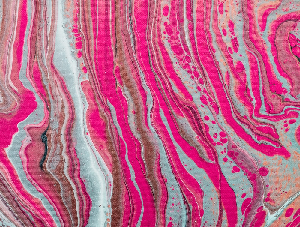 pink and white abstract painting