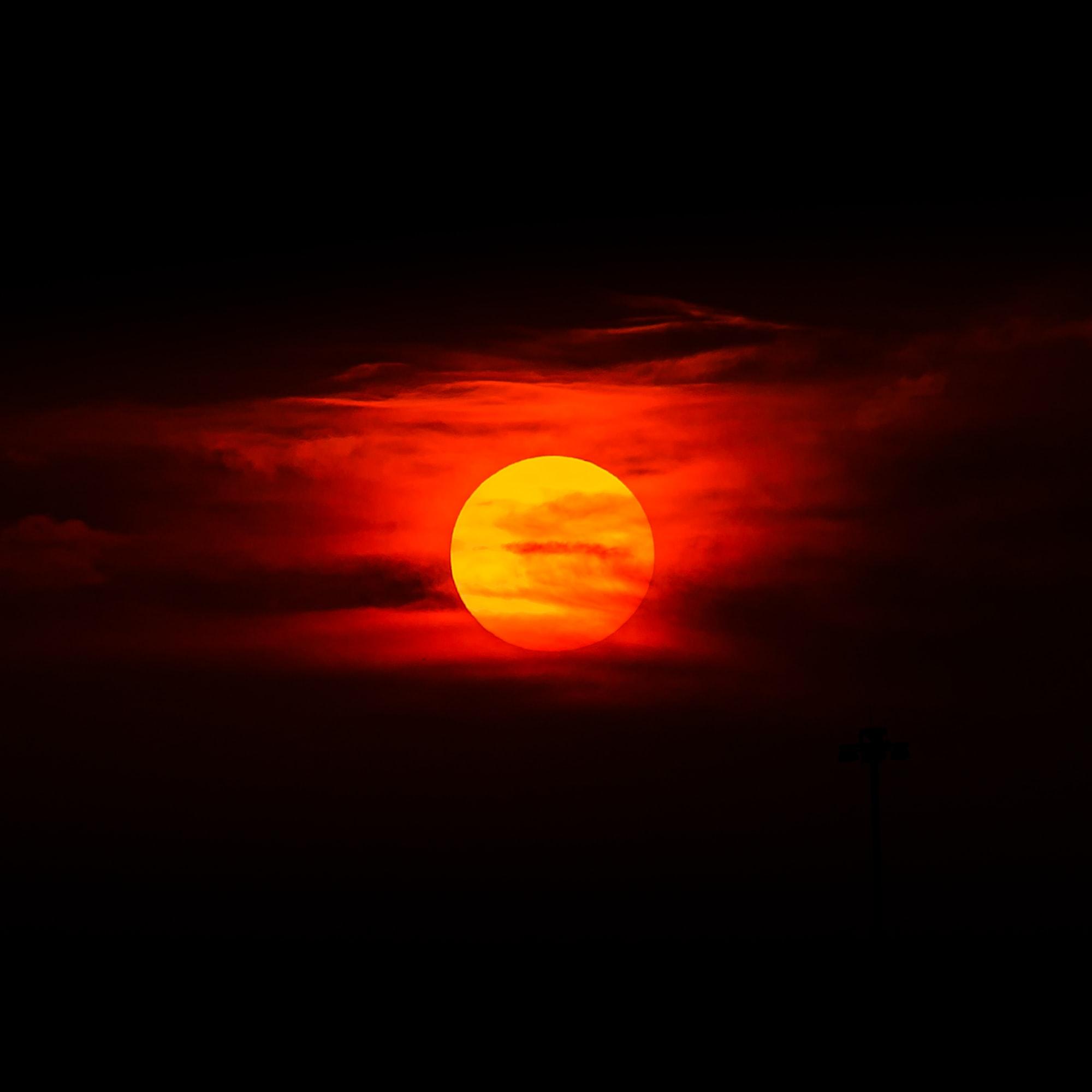 Blood sunset over Arizona.