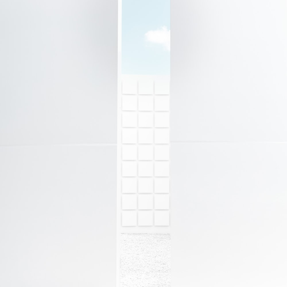 white and black rectangular frame