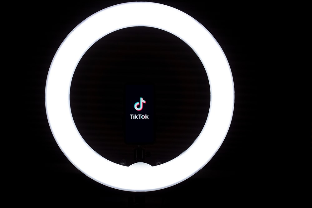 white and black round light
