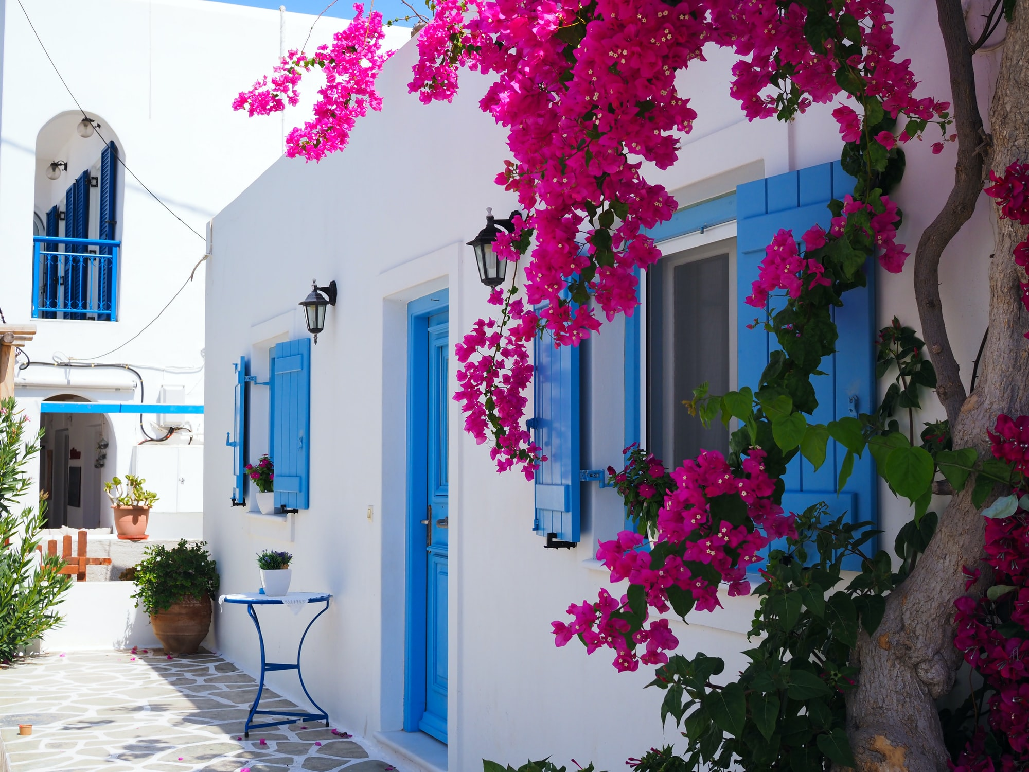 View from a home at the town of Antiparos.  Antiparos island, Cyclades, Greece.