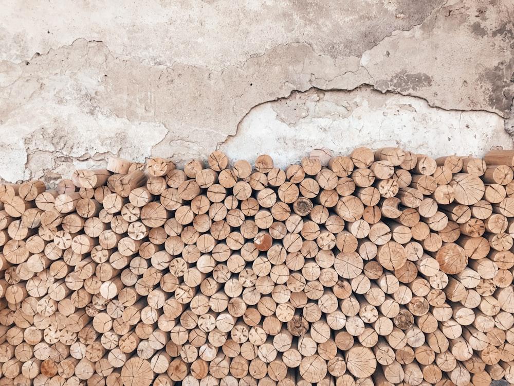 brown and white stones on white concrete floor
