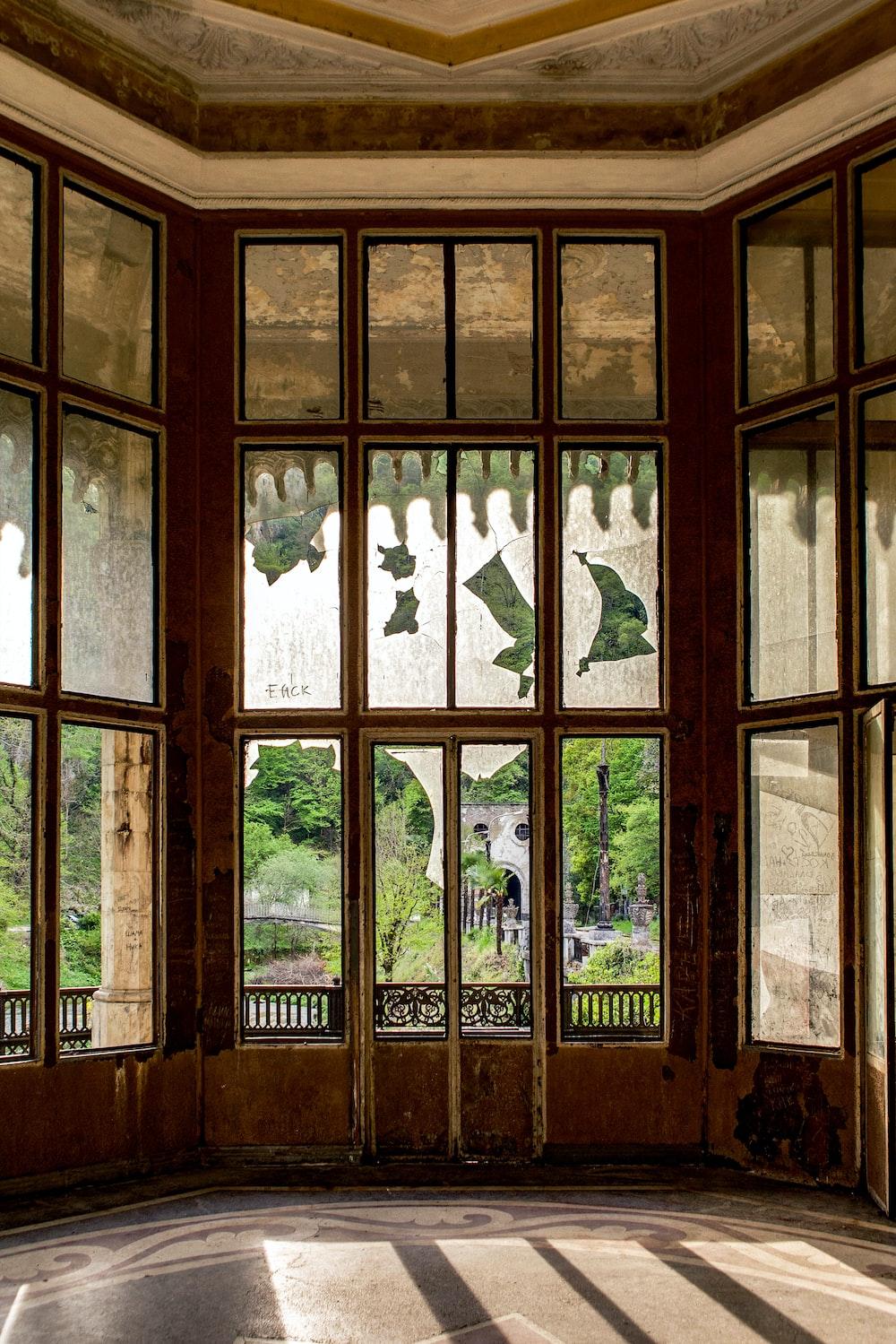 Brown Wooden Framed Glass Window Photo Free Window Image On Unsplash