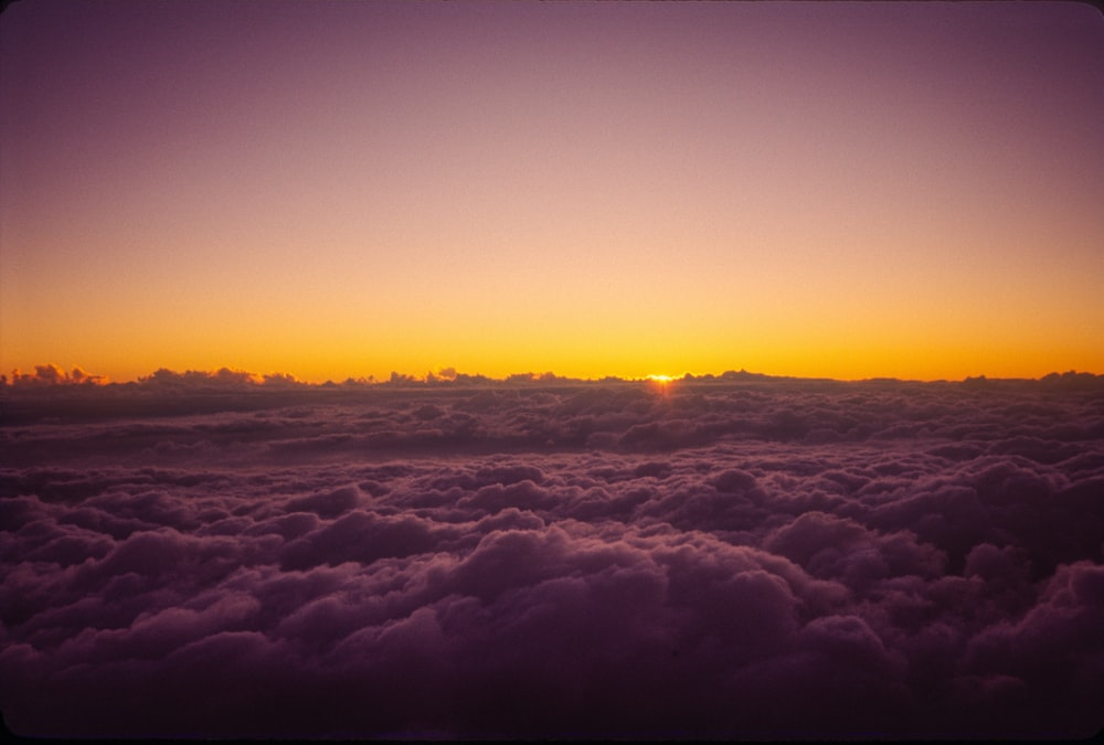 clouds and sun during sunset