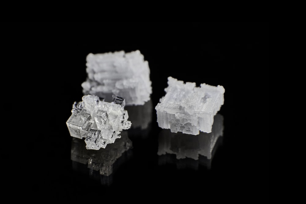 white and gray crystal stone