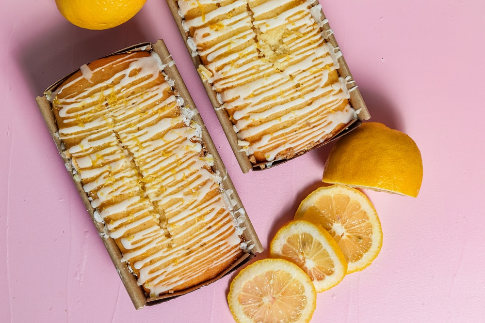 sliced lemon on stainless steel tray