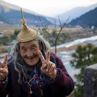 Polaroid Image - beautiful bhutanese