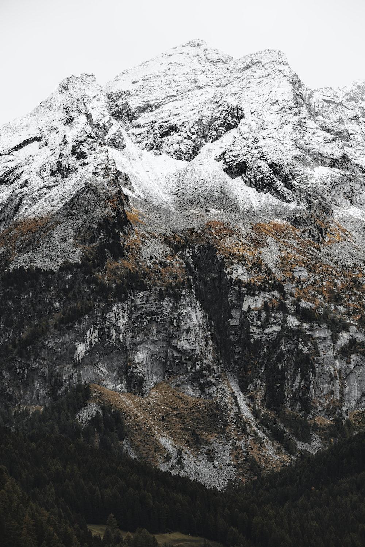gray and white rocky mountain