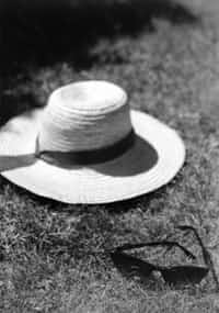 Person in white.  hat stories