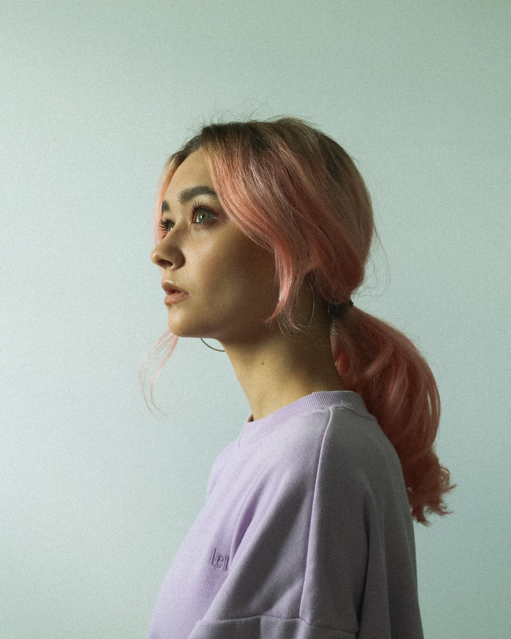 Example of pastel pink hair