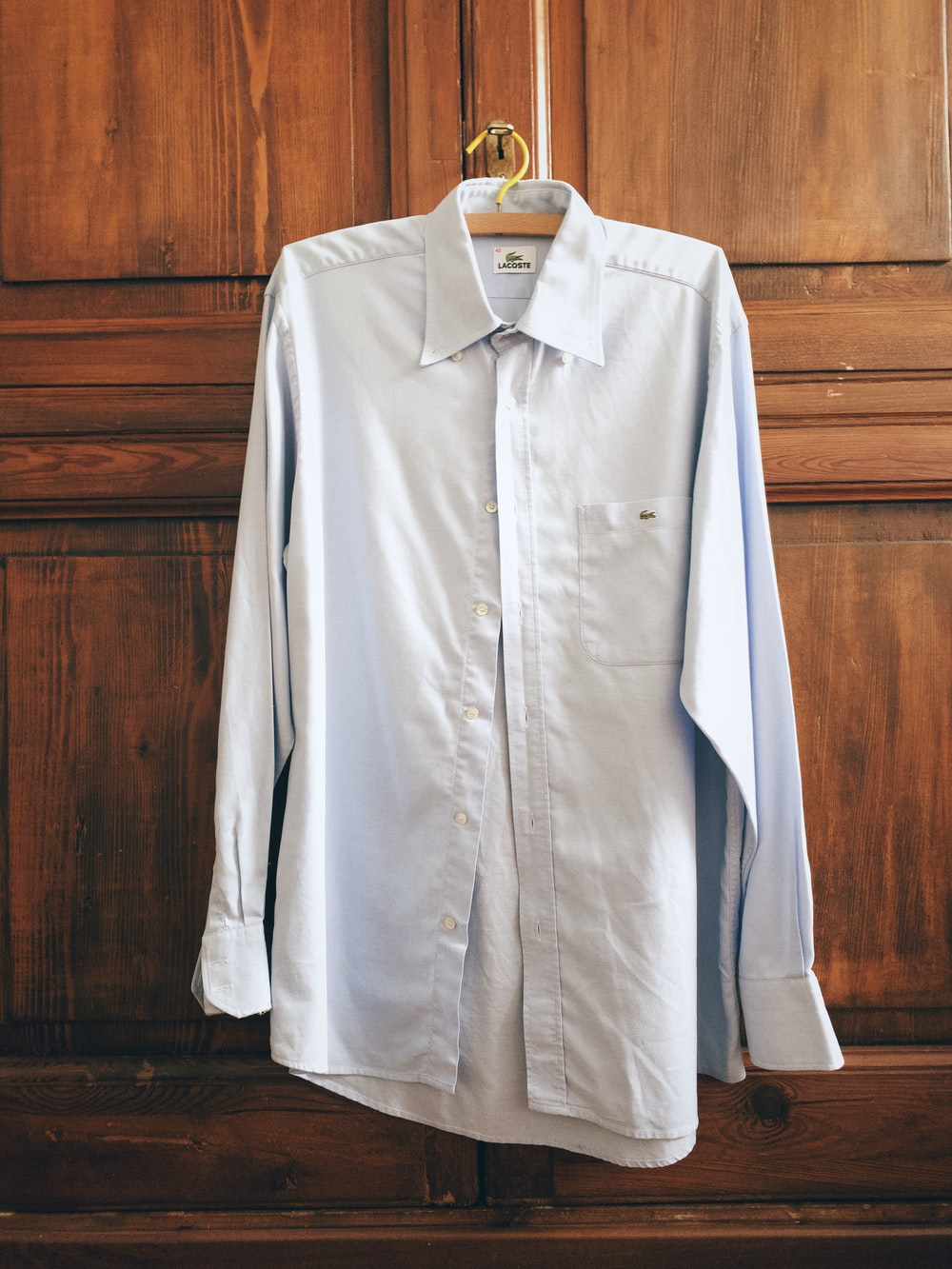 white button up long sleeve shirt