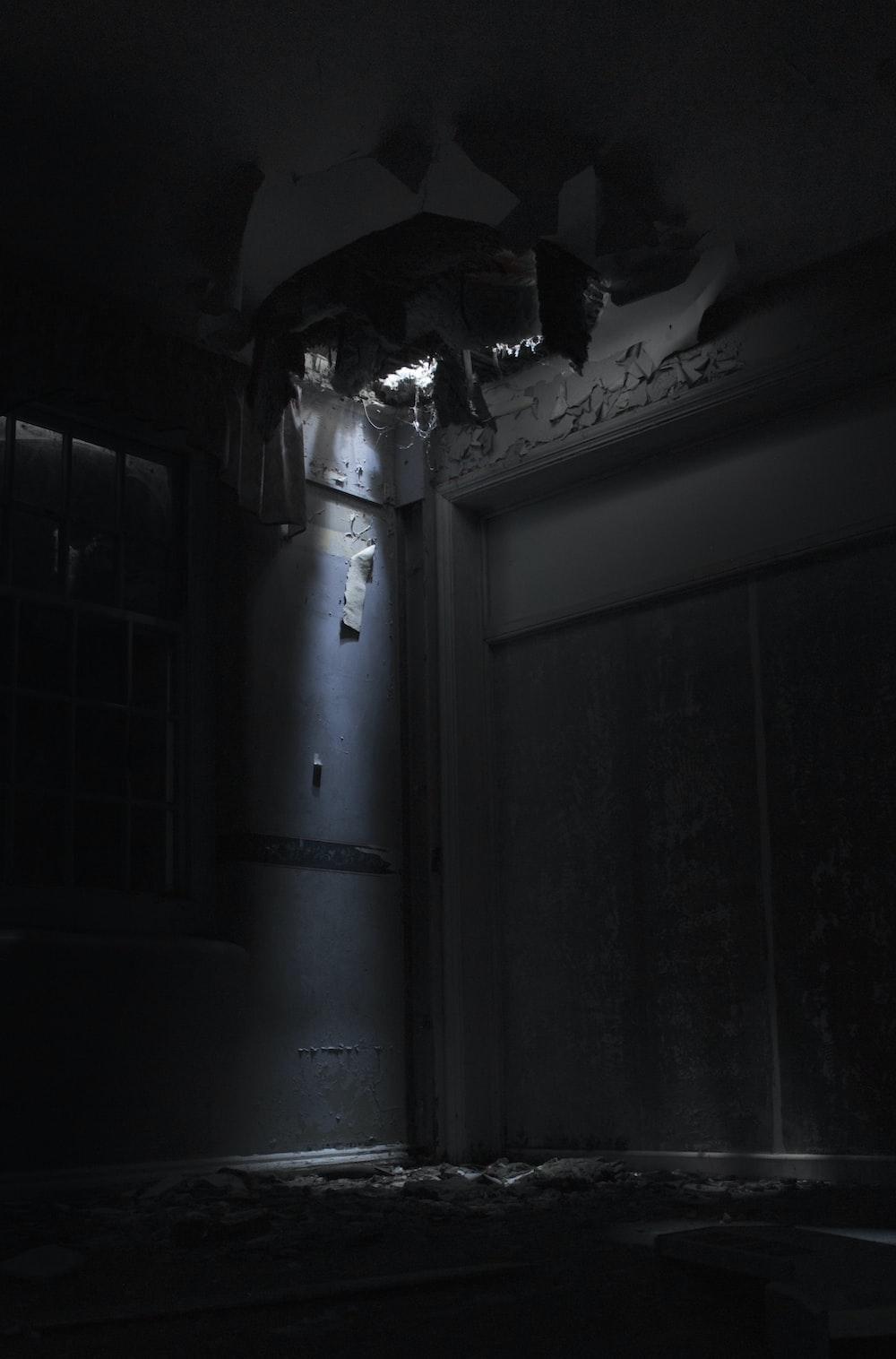 white wooden door with stainless steel door lever