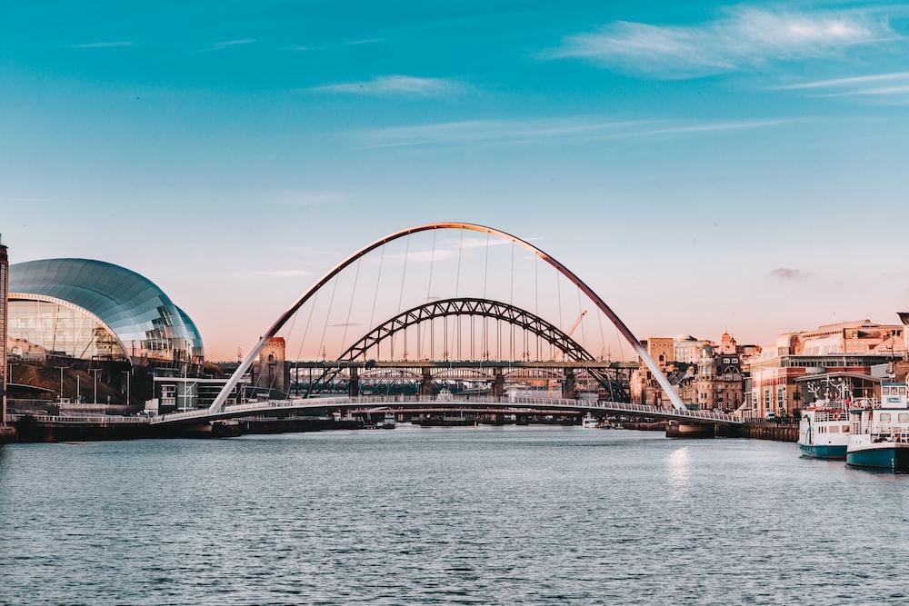 white bridge over body of water during daytime