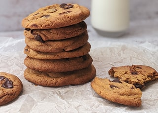 cookies on white ceramic plate