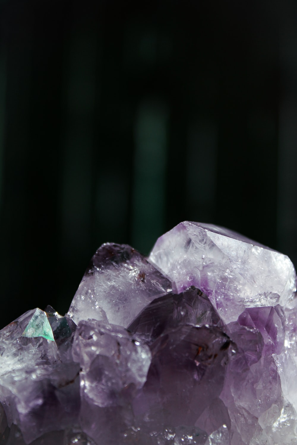 purple and white crystal stone