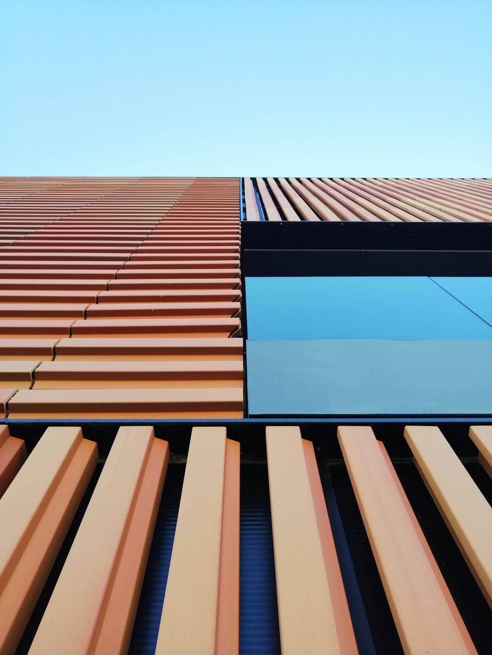 brown and blue concrete building