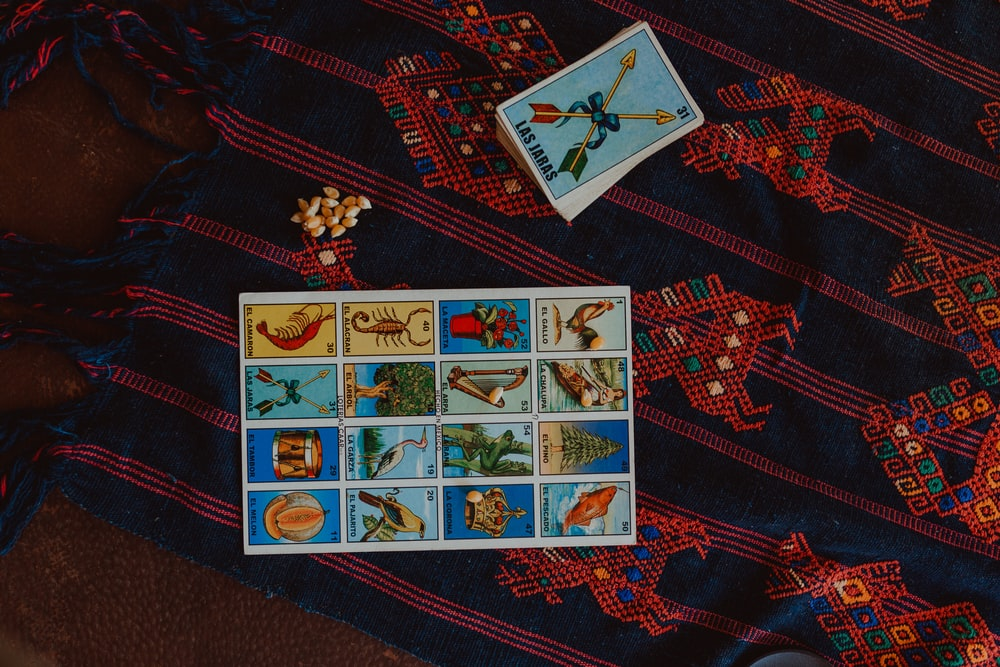 blue white and red playing cards