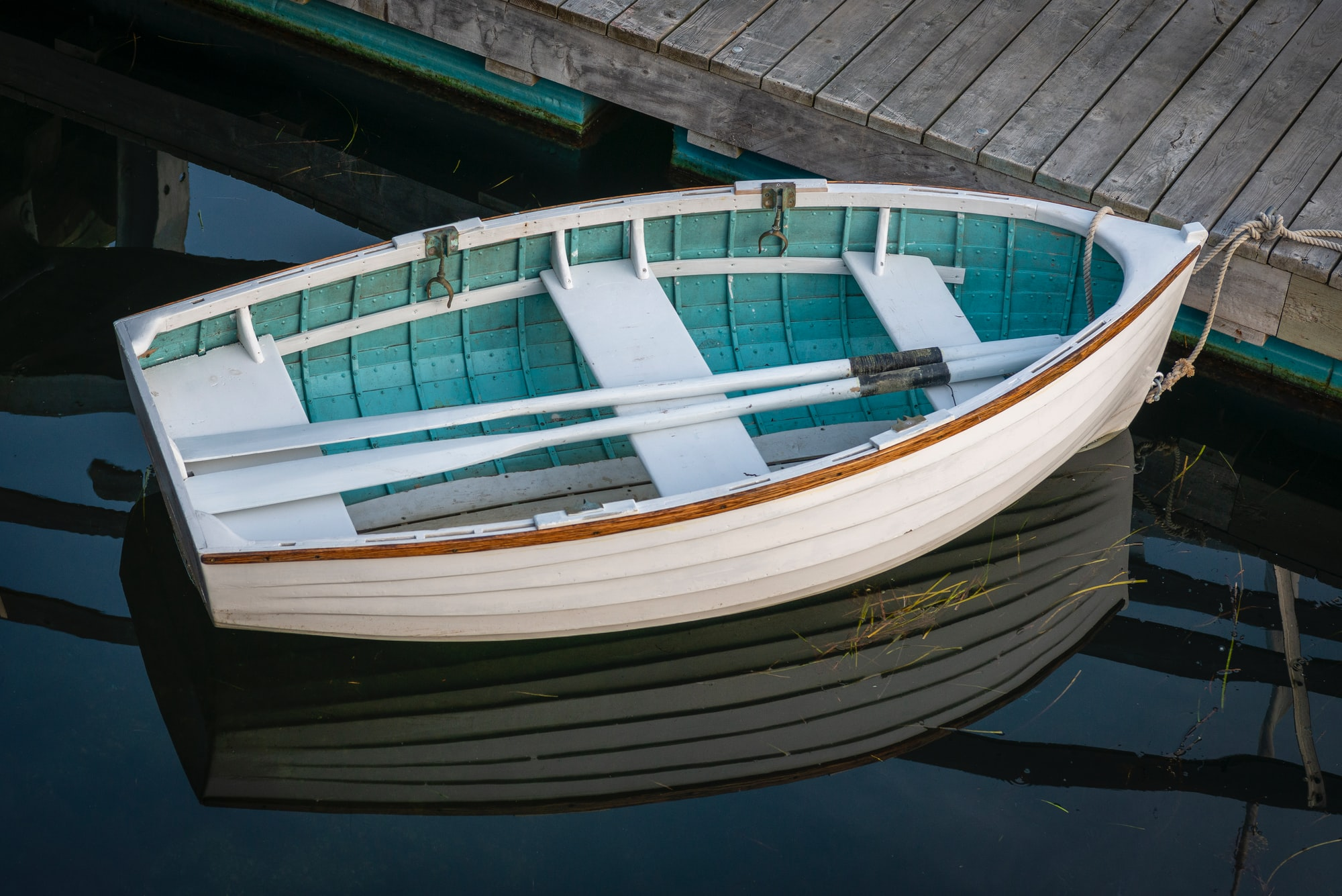 """""""Perfect Punt"""" - This lovely little punt lies resting at Zwicker's Wharf, Lunenburg, Nova Scotia. 44° 22.528' N 64° 18.605' W"""