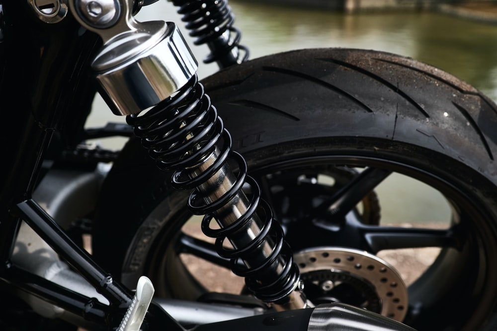 black motorcycle wheel with tire