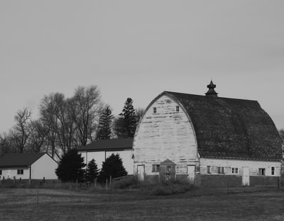 grayscale photo of a barn in the middle of a field minnesota zoom background