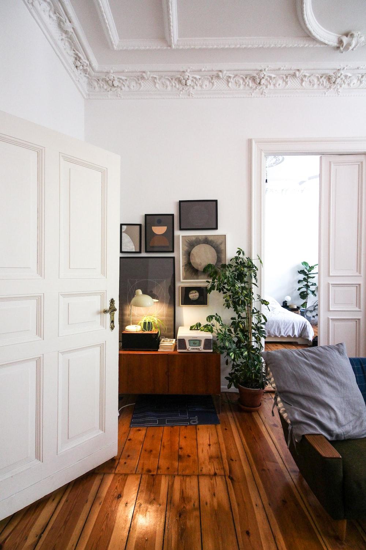 white wooden door near brown wooden table