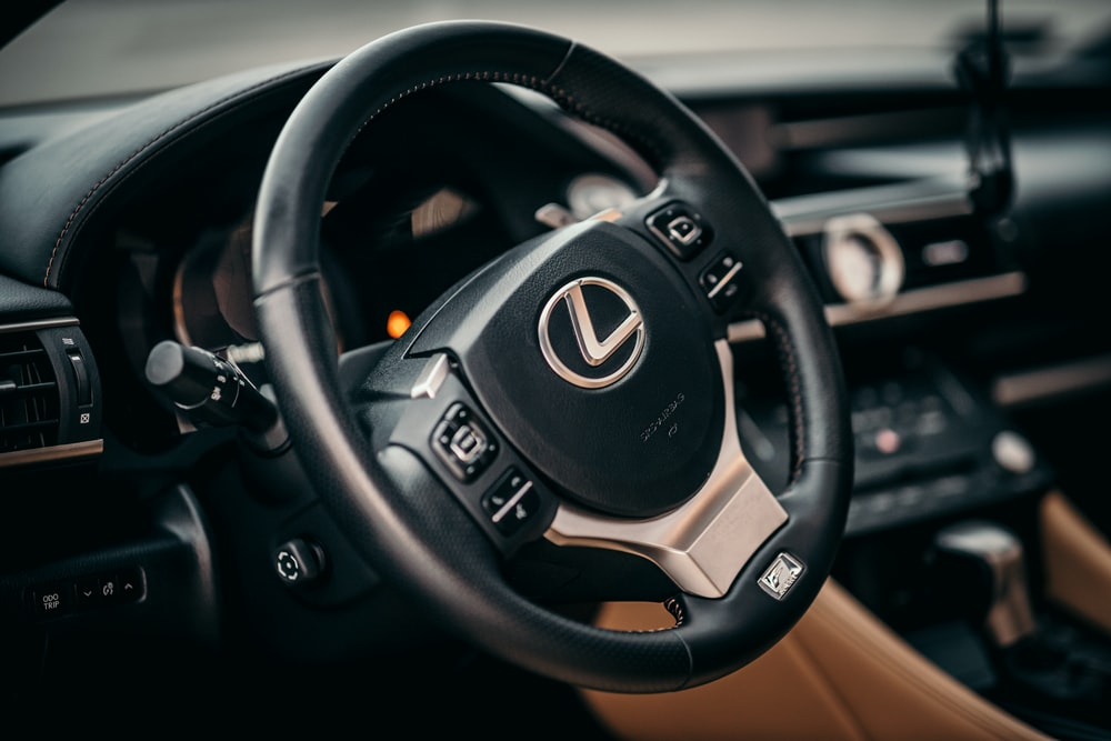 black and silver jeep steering wheel
