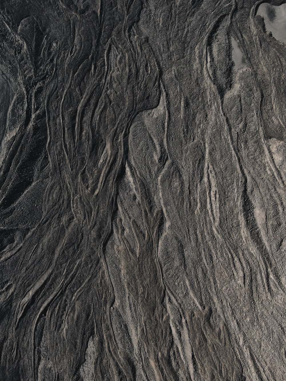 brown and black rock formation