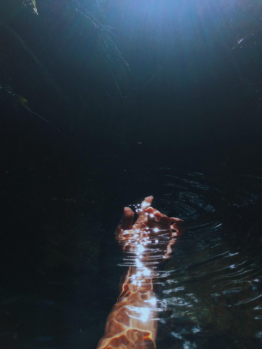 woman in water in water