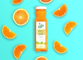 orange fruits on white background