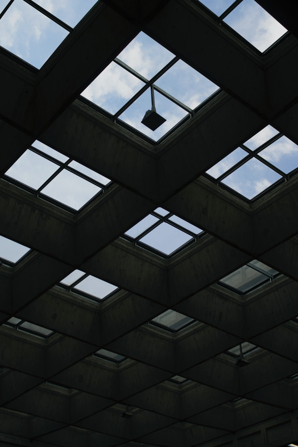 black and white glass ceiling