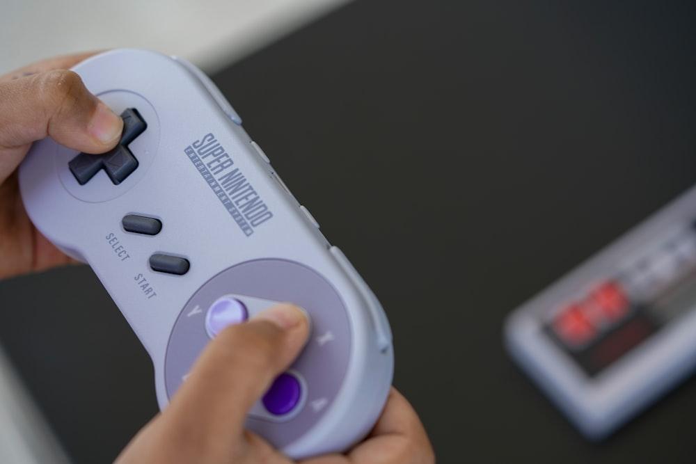 white and gray remote control