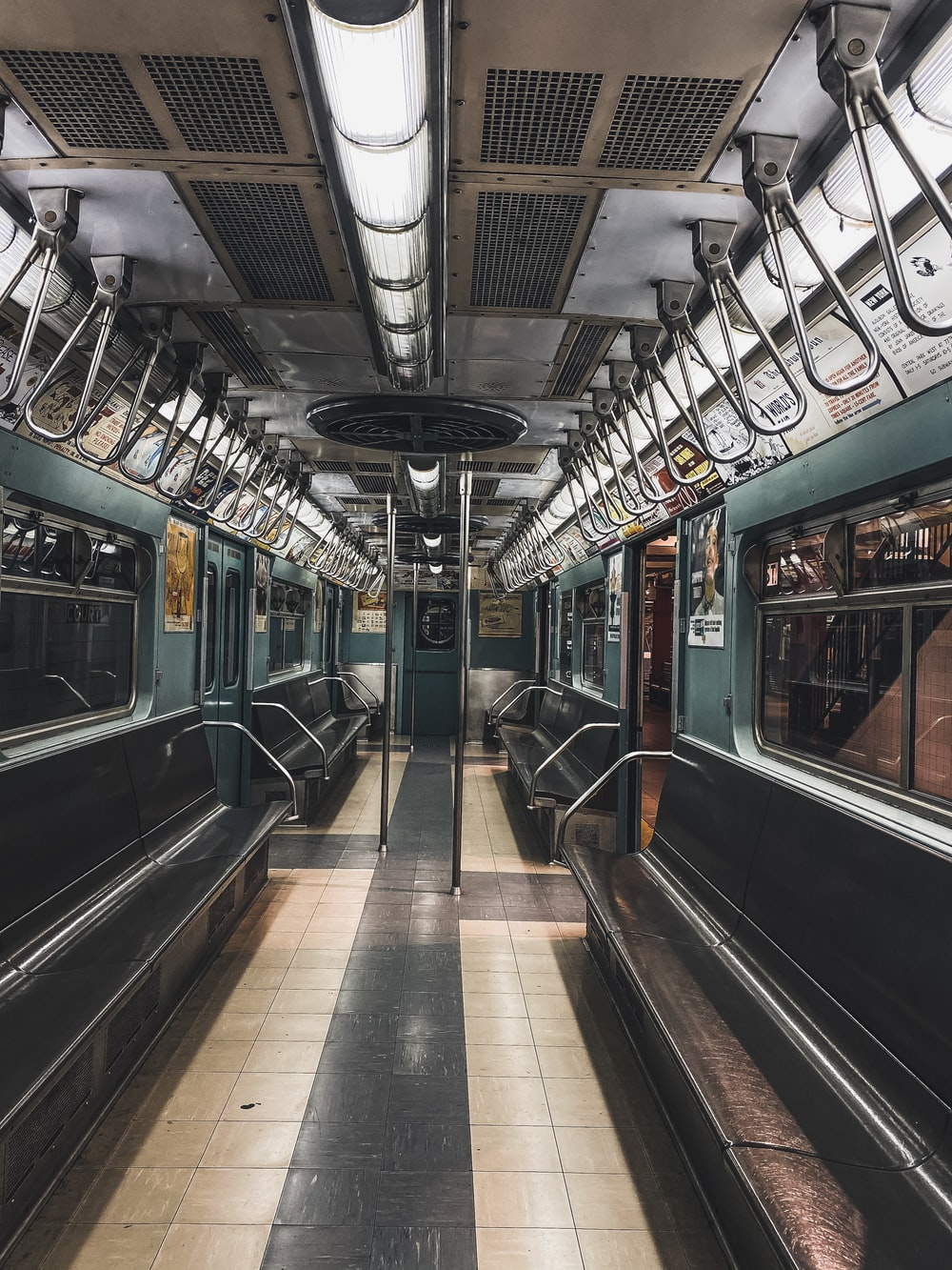 black and silver train in train station