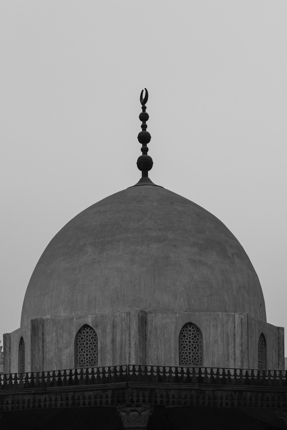 gray and brown dome building