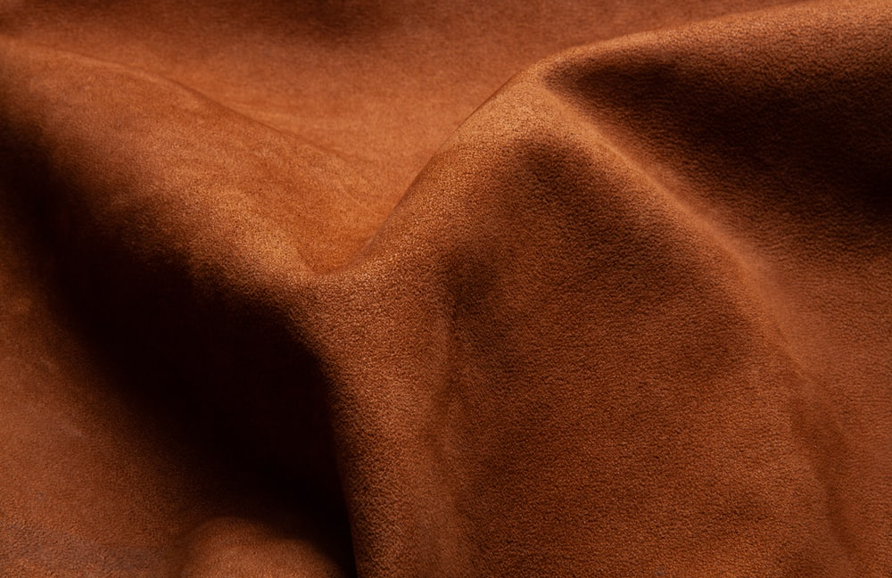 brown textile in close up image