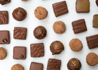 brown and white chocolate bars
