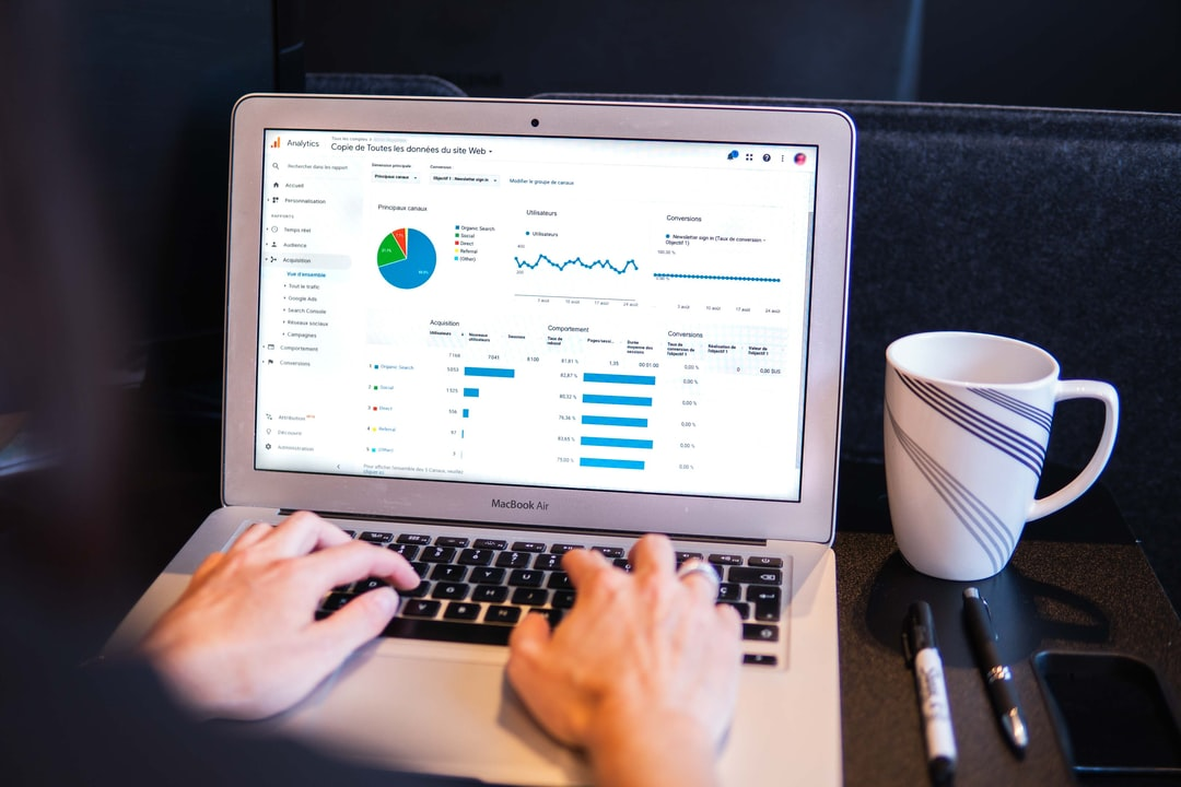 Performance Data on computer screen