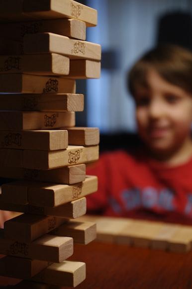Brettspiel und Kind