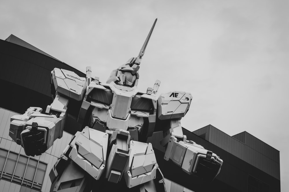 grayscale photo of battle tank