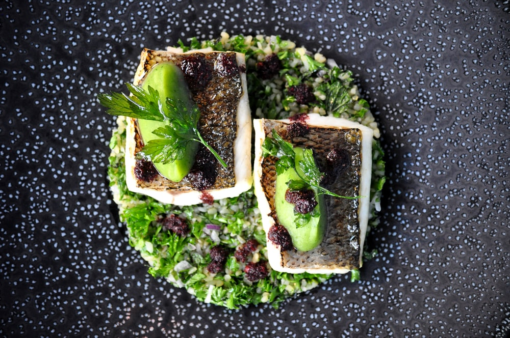 green and brown vegetable sandwich