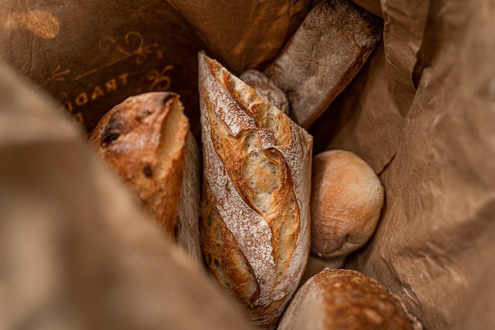 brown bread on brown paper bag
