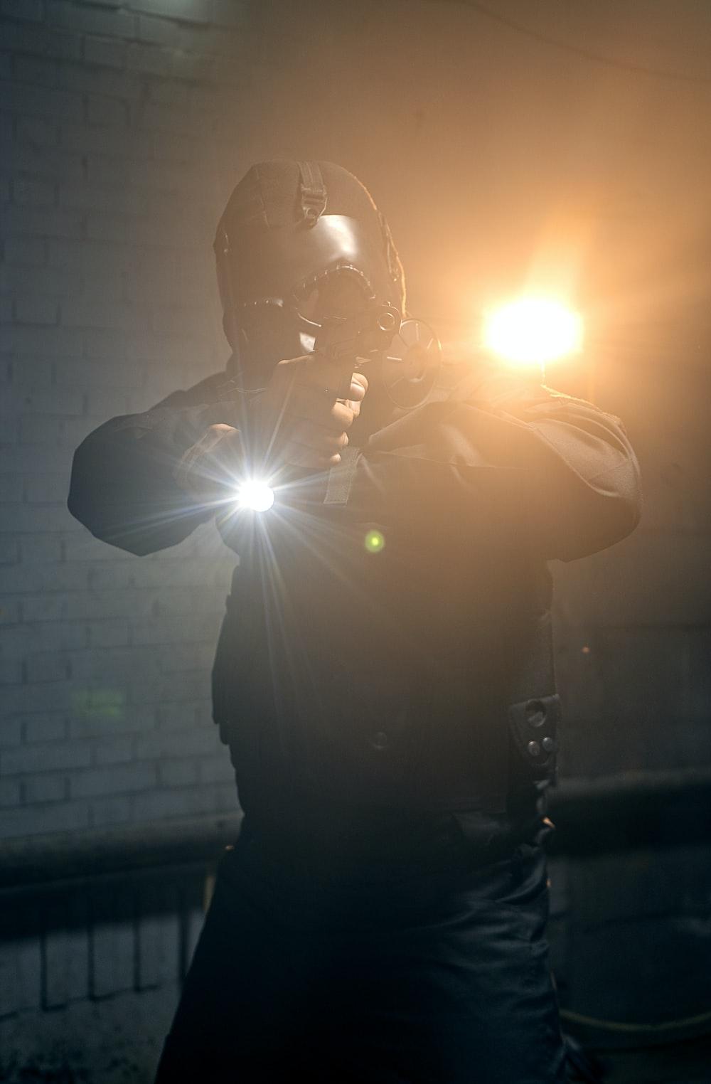 man in black jacket taking selfie
