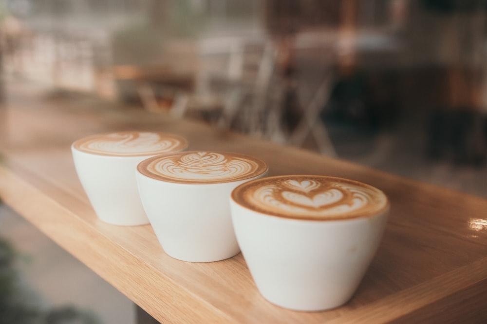 white ceramic cup with espresso
