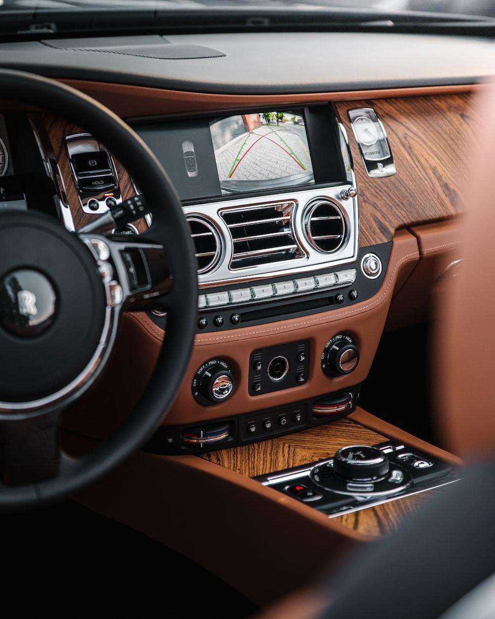 black and brown bmw car interior