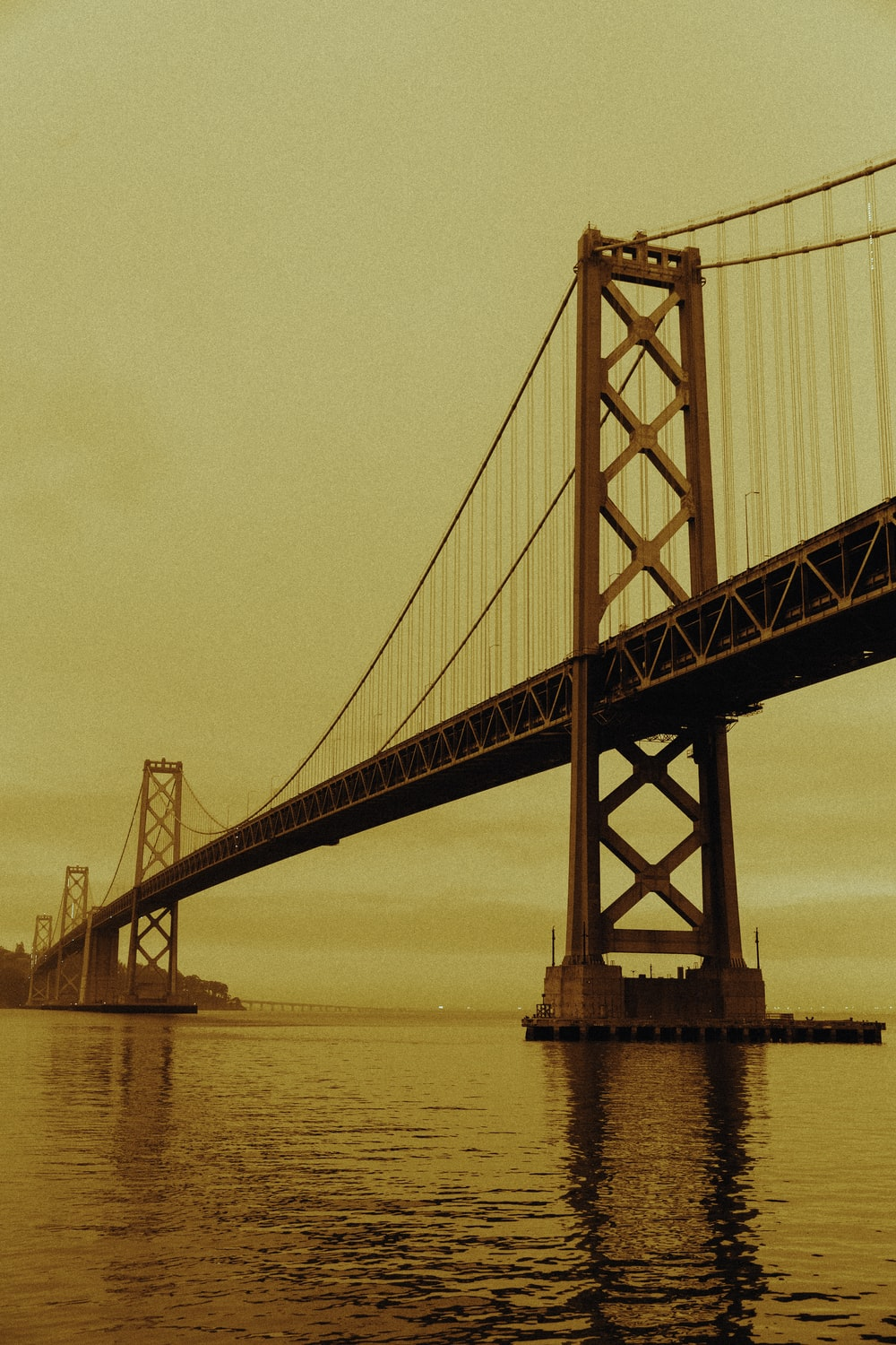 golden gate bridge in grayscale photography
