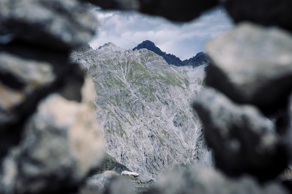 green and gray rocky mountain