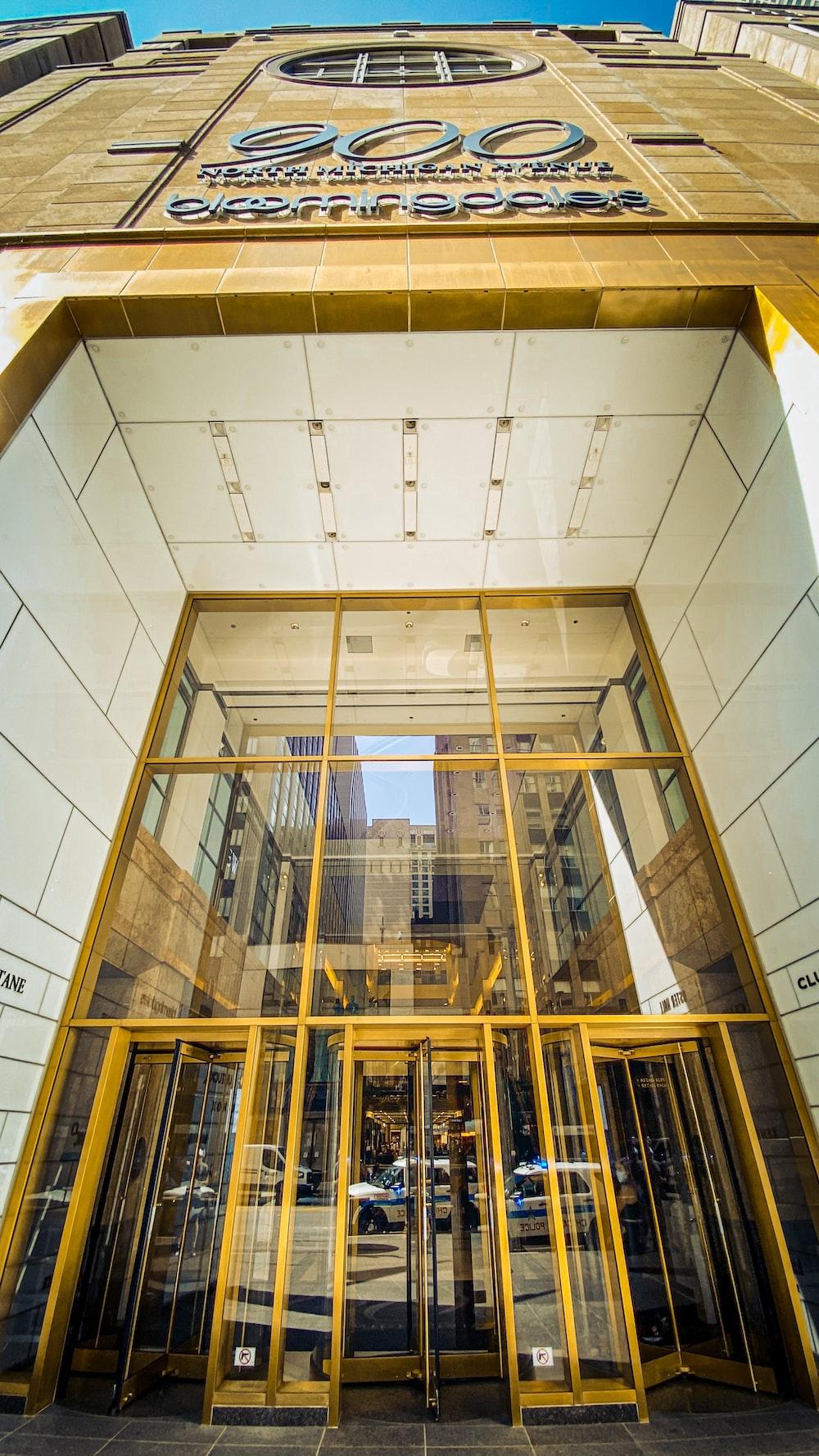 brown wooden framed glass windows