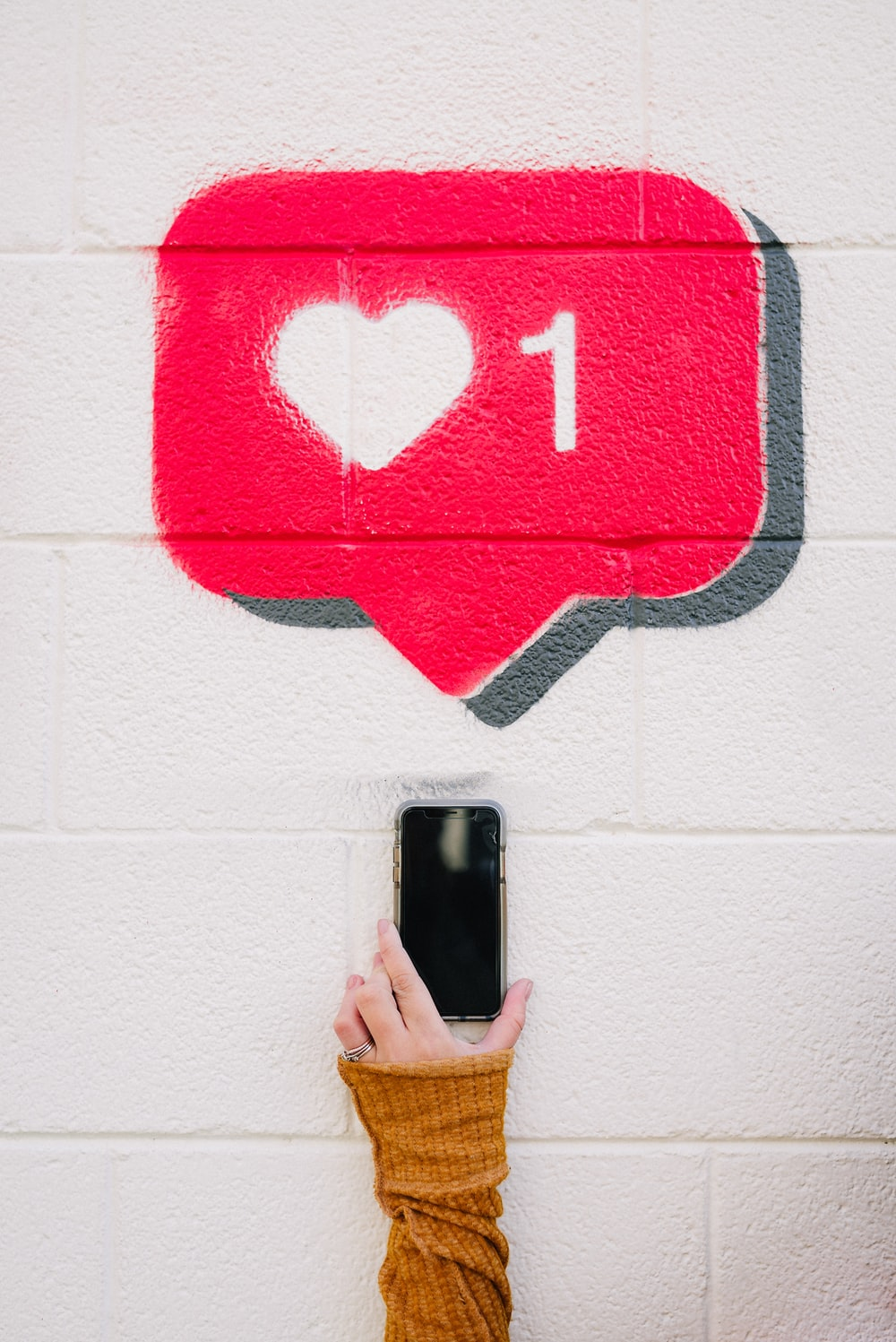 red and white love wall decor