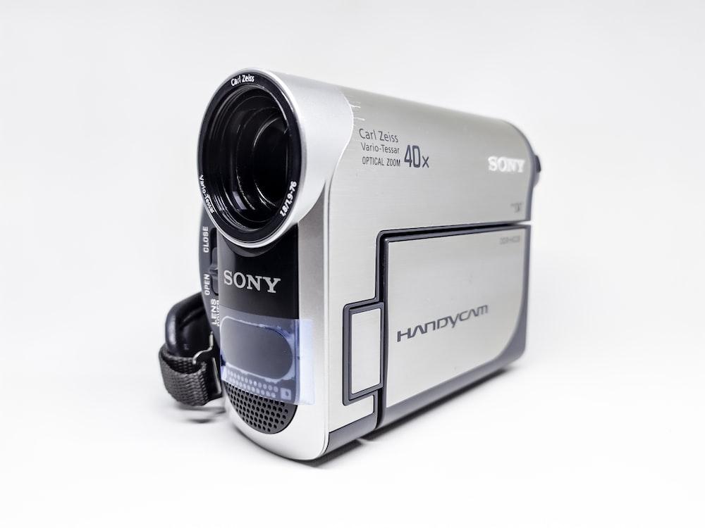 white and black samsung camera